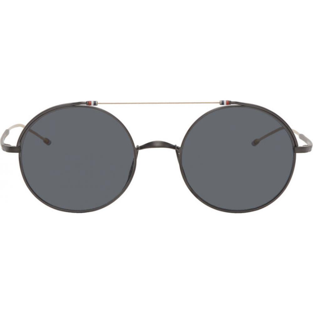 トム ブラウン Thom Browne メンズ メガネ・サングラス 【Black TB910 Sunglasses】Black/Gold