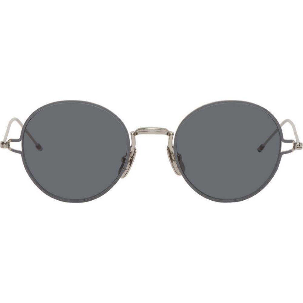 トム ブラウン Thom Browne メンズ メガネ・サングラス 【Silver TBS915 Sunglasses】Silver/Grey