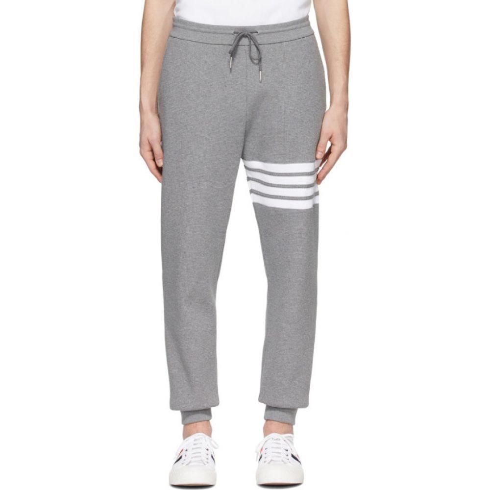 トム ブラウン Thom Browne メンズ スウェット・ジャージ ボトムス・パンツ【Grey Waffle Knit 4-Bar Sweatpants】Medium grey