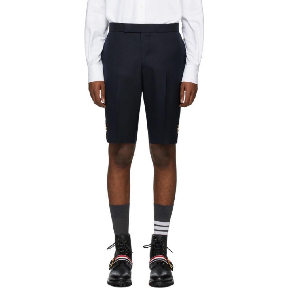 トム ブラウン Thom Browne メンズ ショートパンツ ボトムス・パンツ【Navy Super 120s Vented Shorts】Navy
