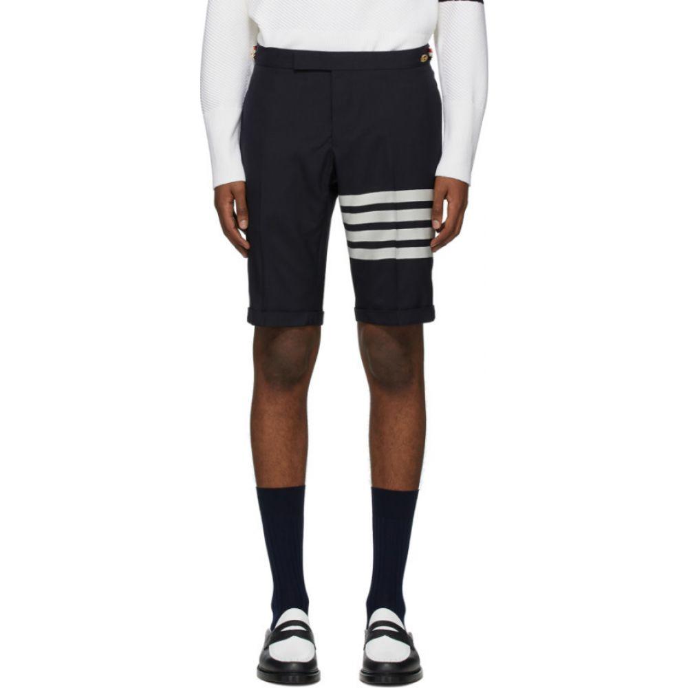 トム ブラウン Thom Browne メンズ ショートパンツ ボトムス・パンツ【Navy 4-Bar Wool Shorts】Navy