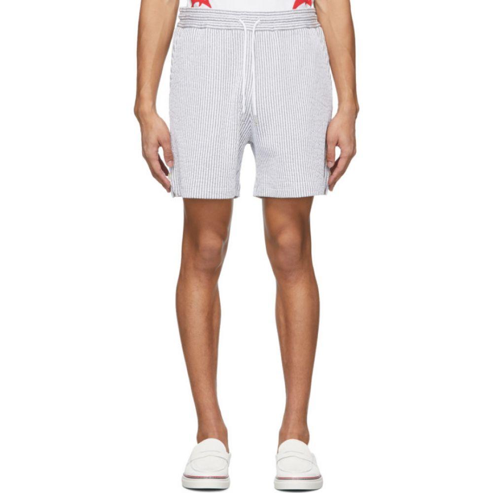 トム ブラウン Thom Browne メンズ ショートパンツ ボトムス・パンツ【Grey Stripe Seersucker Shorts】Light grey