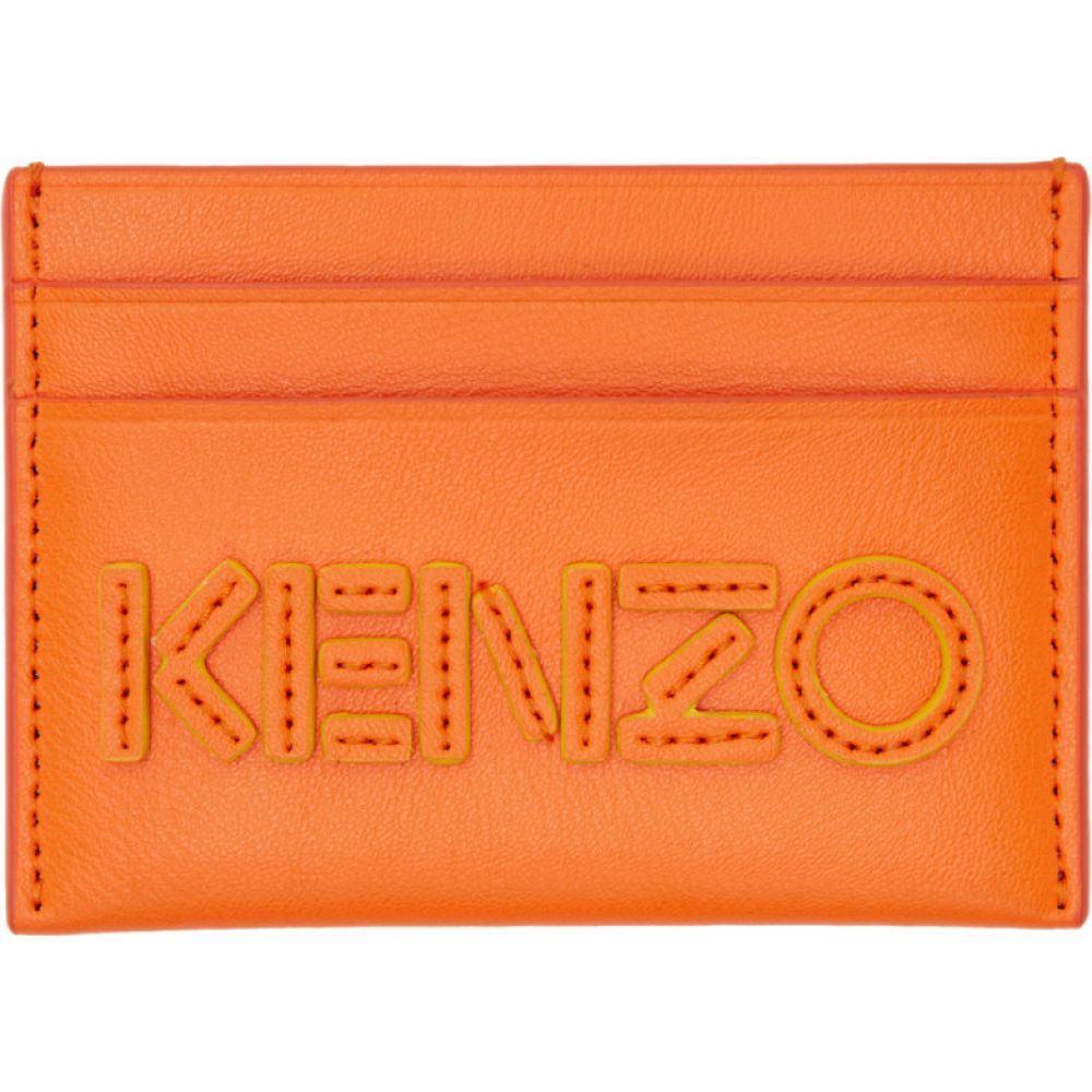 ケンゾー Kenzo メンズ カードケース・名刺入れ カードホルダー【Orange Kontrast Card Holder】Med orange