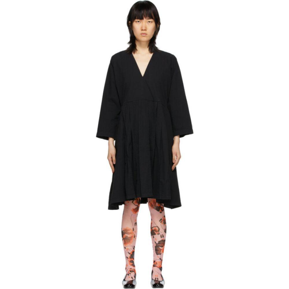 ヘンリック ヴィブスコフ Henrik Vibskov レディース ワンピース ワンピース・ドレス【Black Pleated Skirt Dress】Black