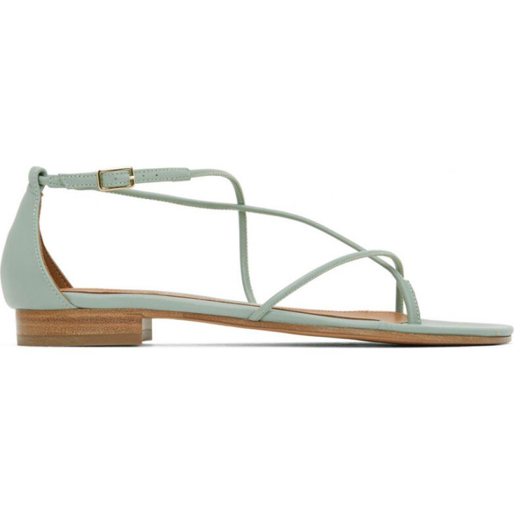 エマパーソンズ Emme Parsons レディース サンダル・ミュール アンクルストラップ シューズ・靴【Green String Ankle Strap Sandals】Celedon