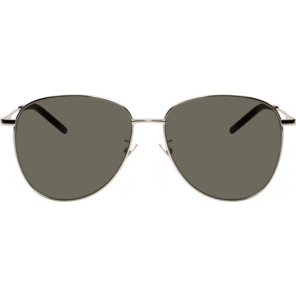イヴ サンローラン Saint Laurent メンズ メガネ・サングラス 【Silver SL 328/K Sunglasses】Silver/Green