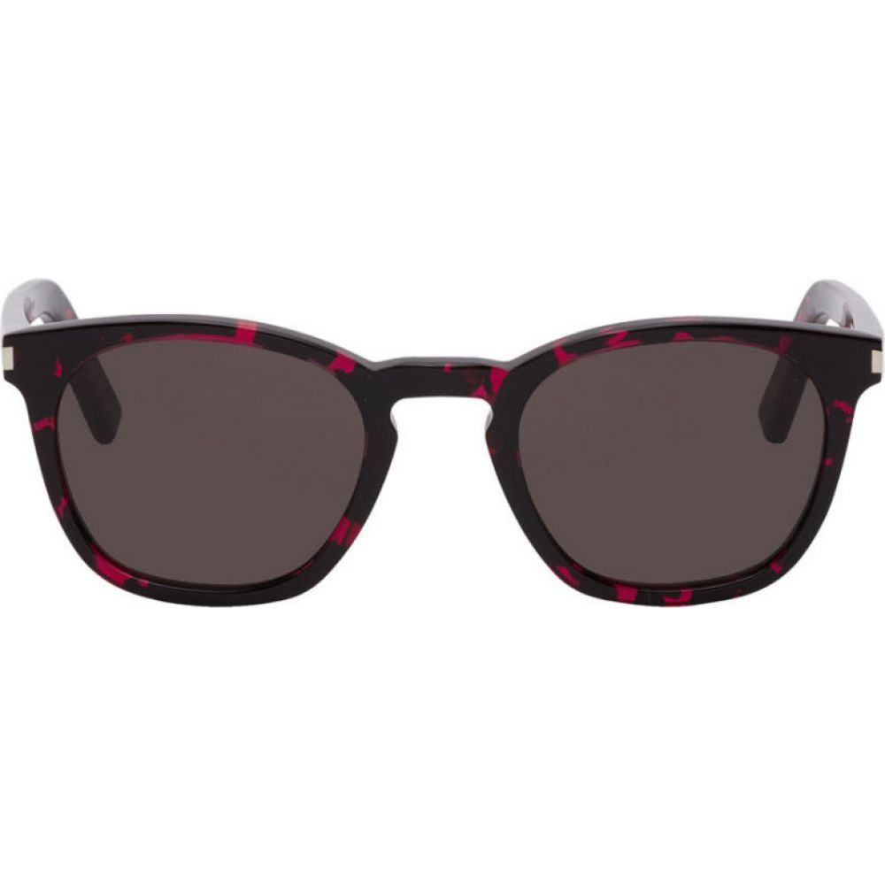 イヴ サンローラン Saint Laurent メンズ メガネ・サングラス 【Black & Pink SL 28 Sunglasses】Black/Pink