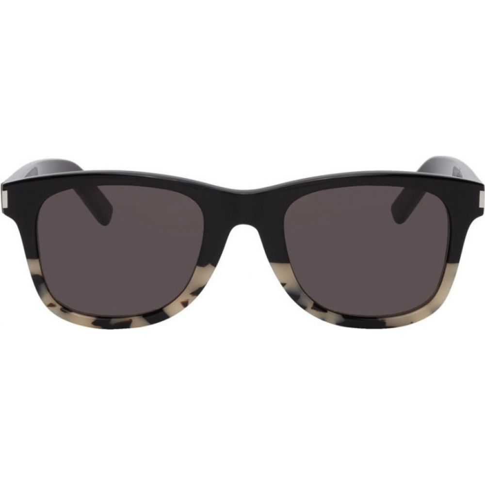 イヴ サンローラン Saint Laurent メンズ メガネ・サングラス 【Black & Off-White SL 51 Sunglasses】Black/Off-white