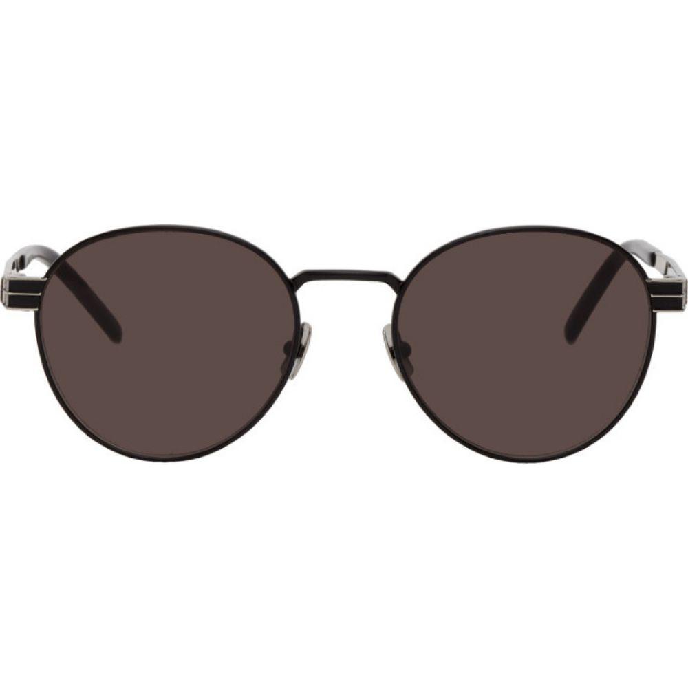 イヴ サンローラン Saint Laurent メンズ メガネ・サングラス 【Black SL M62 Sunglasses】Black