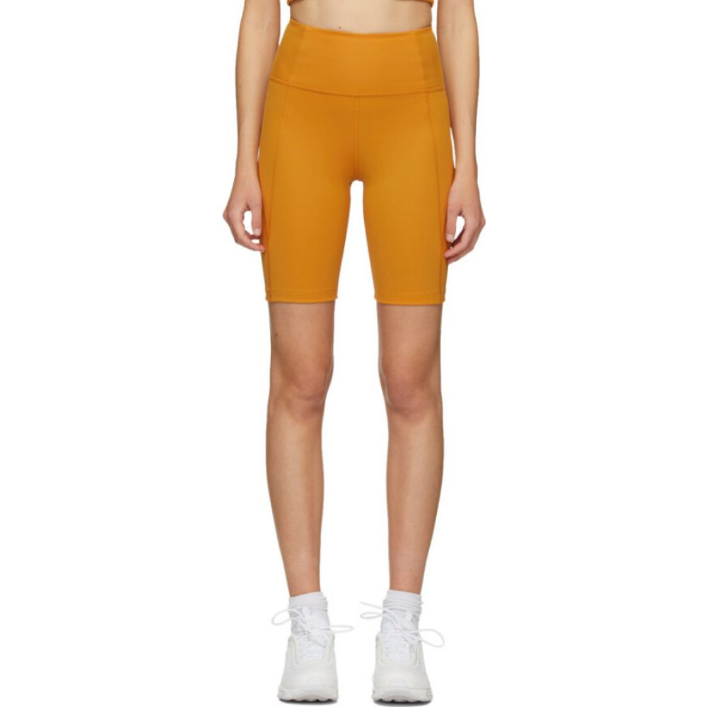 ガールフレンドコレクティブ Girlfriend Collective レディース ショートパンツ ボトムス・パンツ【Yellow High-Rise Biker Shorts】Honey
