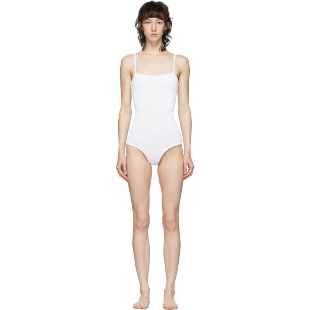 フンザG Hunza G レディース ワンピース 水着・ビーチウェア【White Maria Swimsuit】White