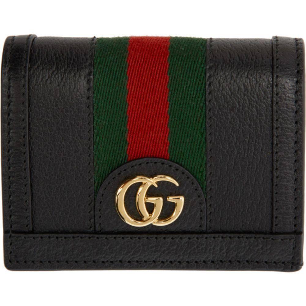 グッチ Gucci レディース 財布 【Black Ophidia Card Case Wallet】Black