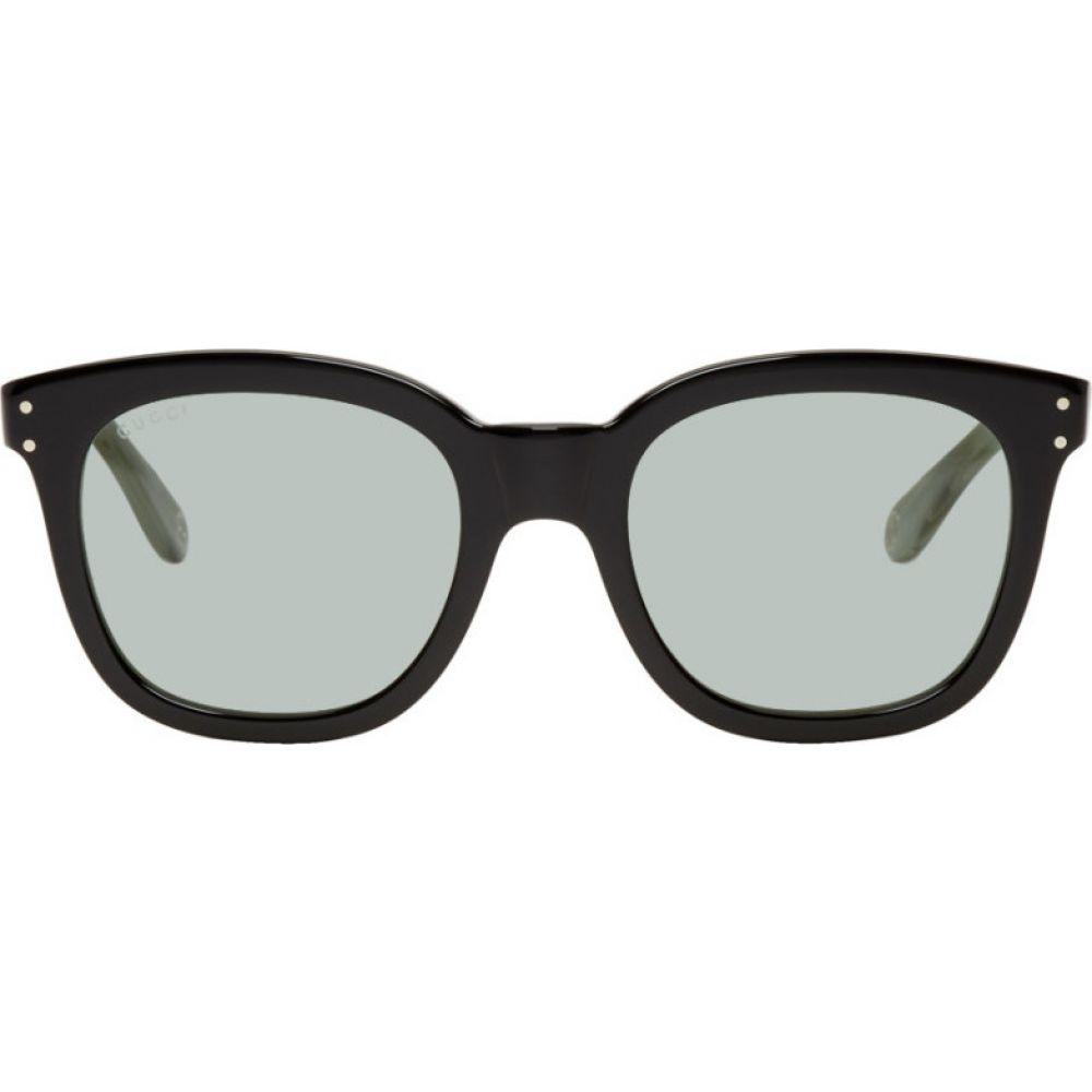 グッチ Gucci メンズ メガネ・サングラス スクエアフレーム【Black & Green Square Sunglasses】Black/Green