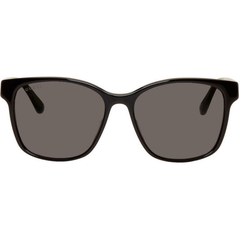 グッチ Gucci メンズ メガネ・サングラス スクエアフレーム【Black Acetate Square Sunglasses】Black