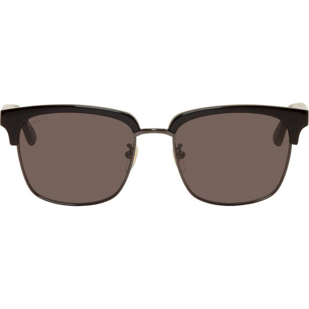 グッチ Gucci メンズ メガネ・サングラス 【Black Half Rim Sunglasses】Black