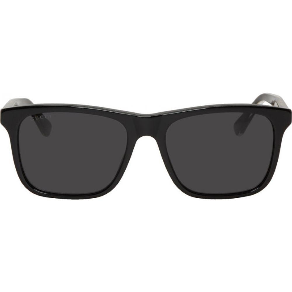 グッチ Gucci メンズ メガネ・サングラス スクエアフレーム【Black Square Sunglasses】Black