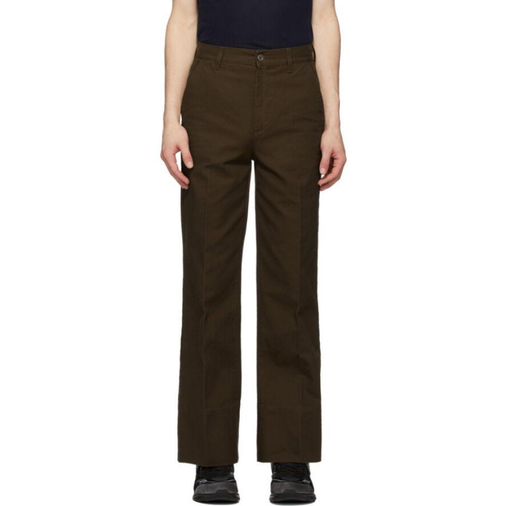グッチ Gucci メンズ ボトムス・パンツ 【Brown Flared Washed Trousers】Burnt brown