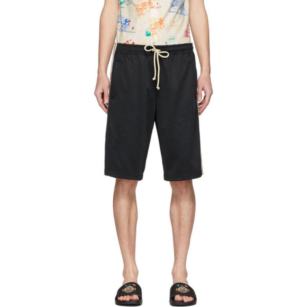 グッチ Gucci メンズ ショートパンツ ボトムス・パンツ【Black Technical Jersey GG Shorts】Black