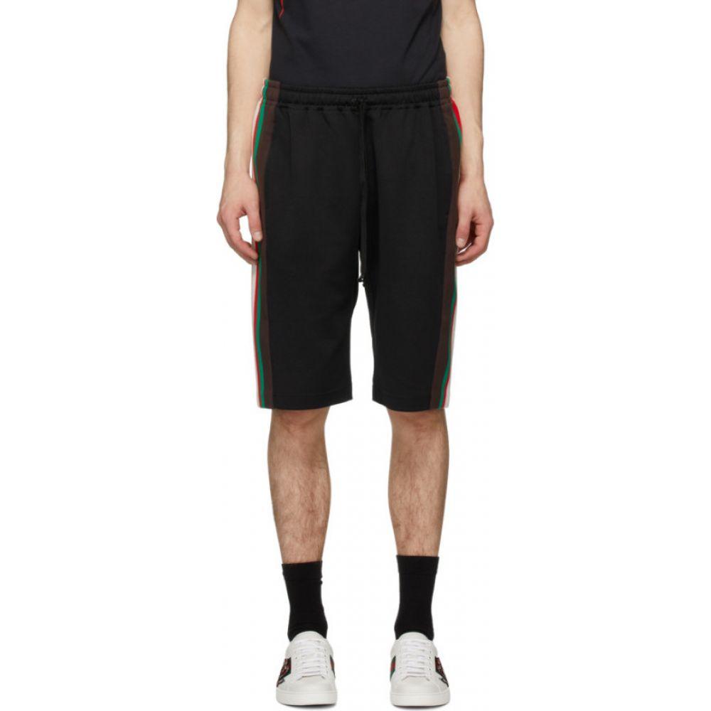 グッチ Gucci メンズ ショートパンツ ボトムス・パンツ【Black Stripe Shorts】Black/Green