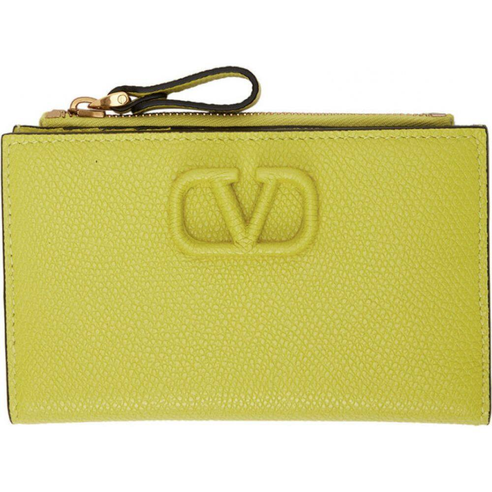 ヴァレンティノ Valentino レディース 財布 【Green Garavani VSling Cardholder Wallet】Cedar