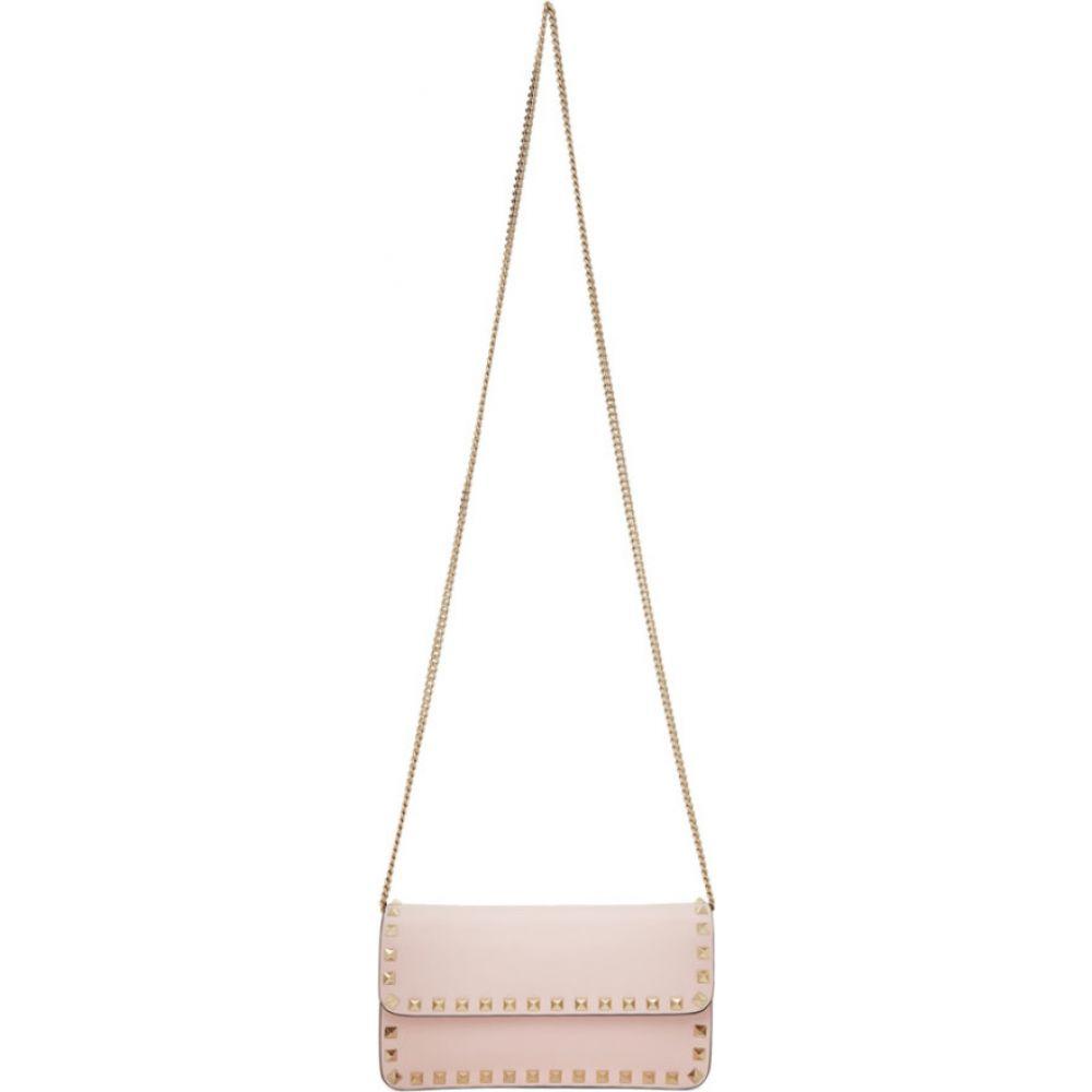 ヴァレンティノ Valentino レディース ショルダーバッグ バッグ【Pink Garavani Rockstud Wallet Bag】Rose quartz