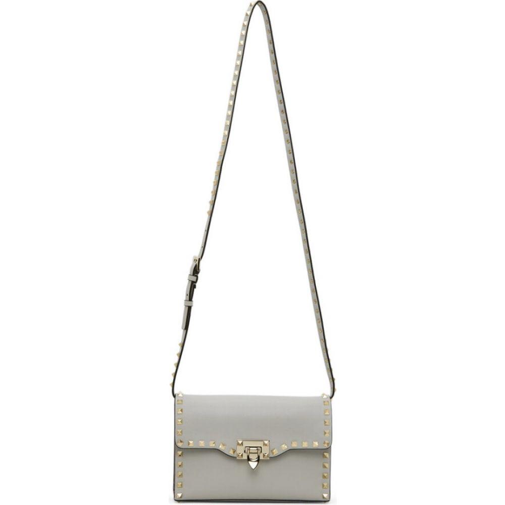 ヴァレンティノ Valentino レディース ショルダーバッグ バッグ【Grey Garavani Small Rockstud Shoulder Bag】Opal grey