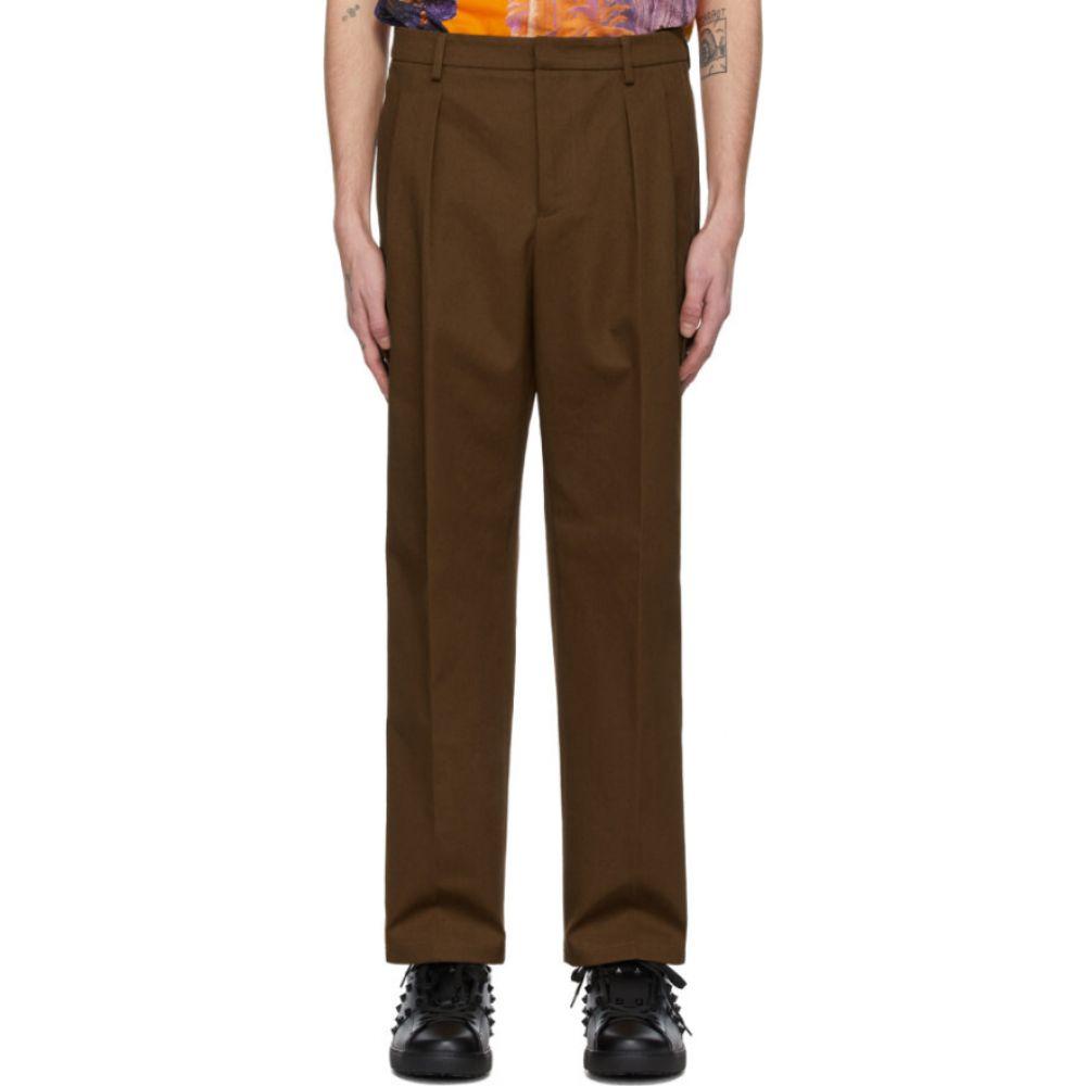 ヴァレンティノ Valentino メンズ ボトムス・パンツ 【Brown Knit Seam Trousers】Tobacco