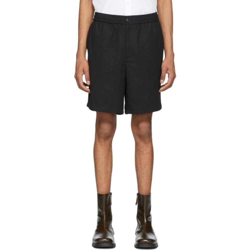 アミアレクサンドルマテュッシ AMI Alexandre Mattiussi メンズ ショートパンツ バミューダ ボトムス・パンツ【Black Elasticized Waistband Bermuda Shorts】Black
