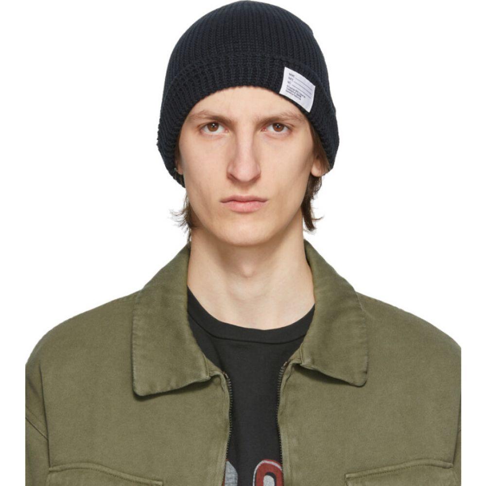 ビズビム Visvim メンズ ニット ビーニー 帽子【Black Knit Beanie】Black
