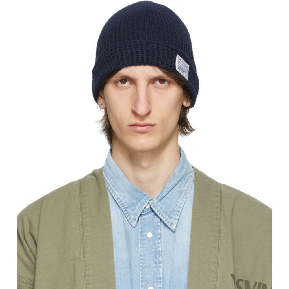 ビズビム Visvim メンズ ニット ビーニー 帽子【Navy Knit Beanie】Navy