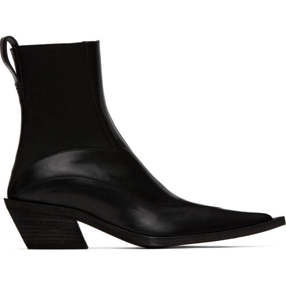 ハイダー アッカーマン Haider Ackermann レディース ブーツ シューズ・靴【Black Elasticated Boots】Black