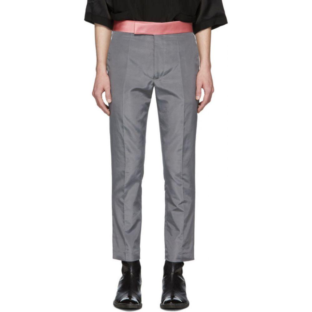 ハイダー アッカーマン Haider Ackermann メンズ ボトムス・パンツ 【Grey Skinny Classic Trousers】Commodore anthracite/Taroni pink