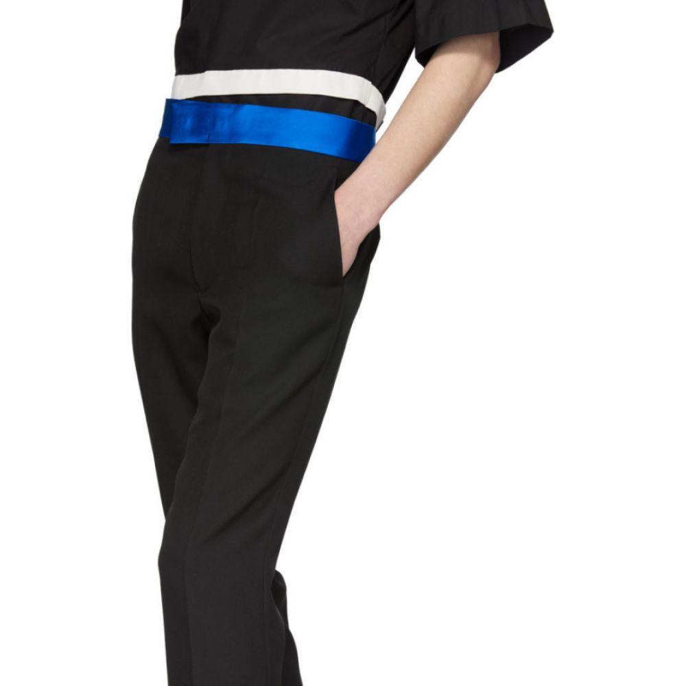 ハイダー アッカーマン Haider Ackermann メンズ スキニー・スリム ボトムス・パンツ Black Skinny Classic Trousers Miles black Officer blueLqGUzjSMpV