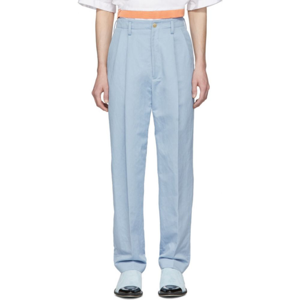 ハイダー アッカーマン Haider Ackermann メンズ ボトムス・パンツ 【Blue High-Waist Trousers】Trooper light blue