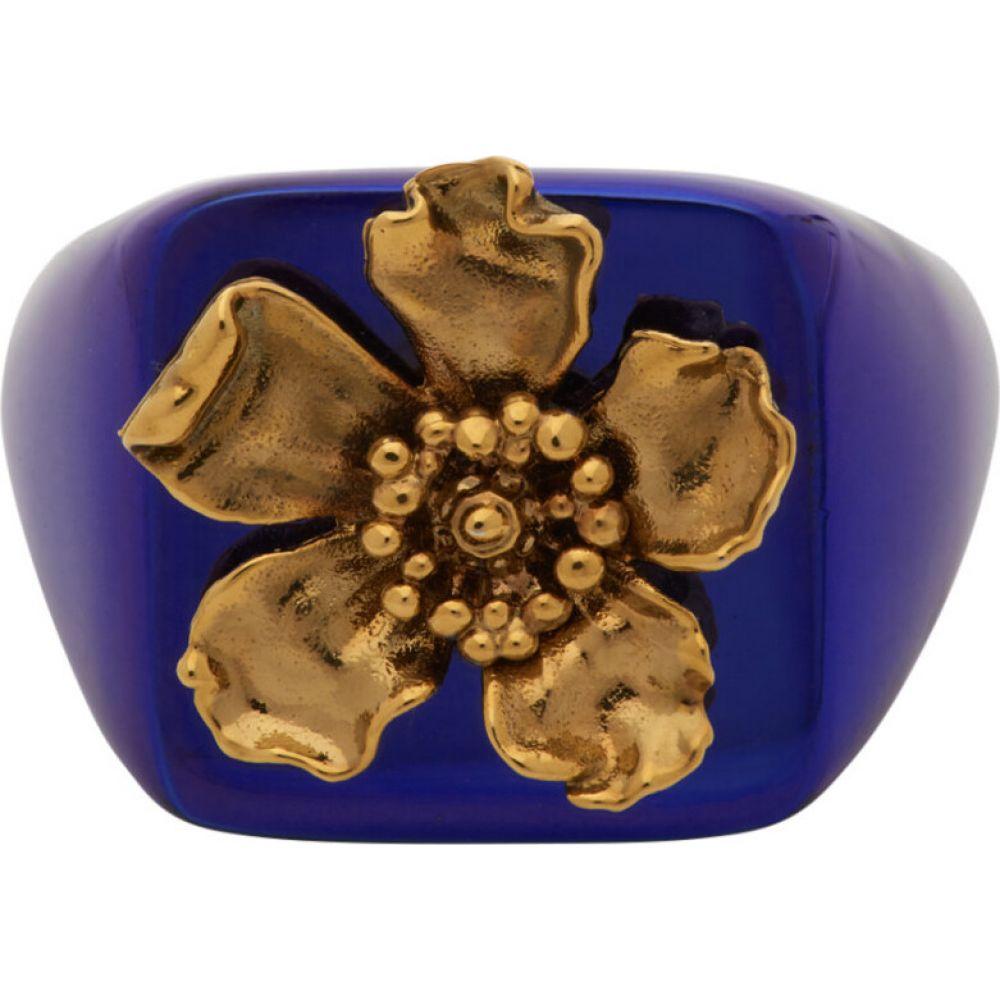 ジャックムス Jacquemus メンズ 指輪・リング ジュエリー・アクセサリー【Blue 'La Chevaliere' Ring】Blue