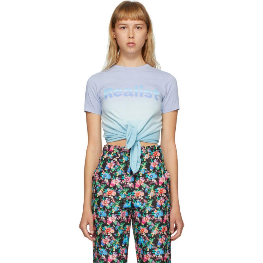 パコラバンヌ Paco Rabanne レディース Tシャツ トップス【Blue Tie-Dye 'Realist' T-Shirt】Blue