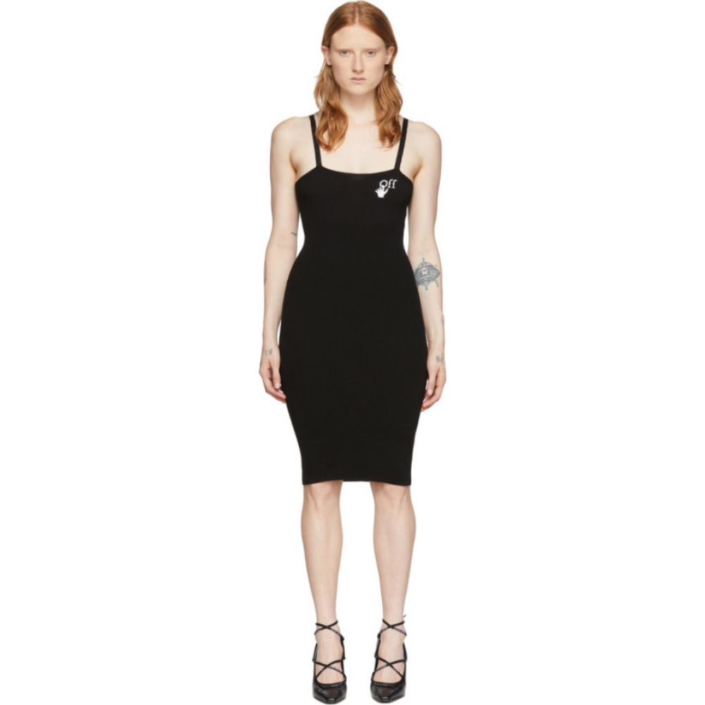 オフホワイト Off-White レディース ワンピース ミドル丈 ワンピース・ドレス【Black Basic Midi Dress】Black