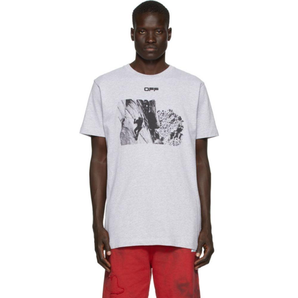 オフホワイト Off-White メンズ Tシャツ トップス【Grey Climb T-Shirt】Melange grey