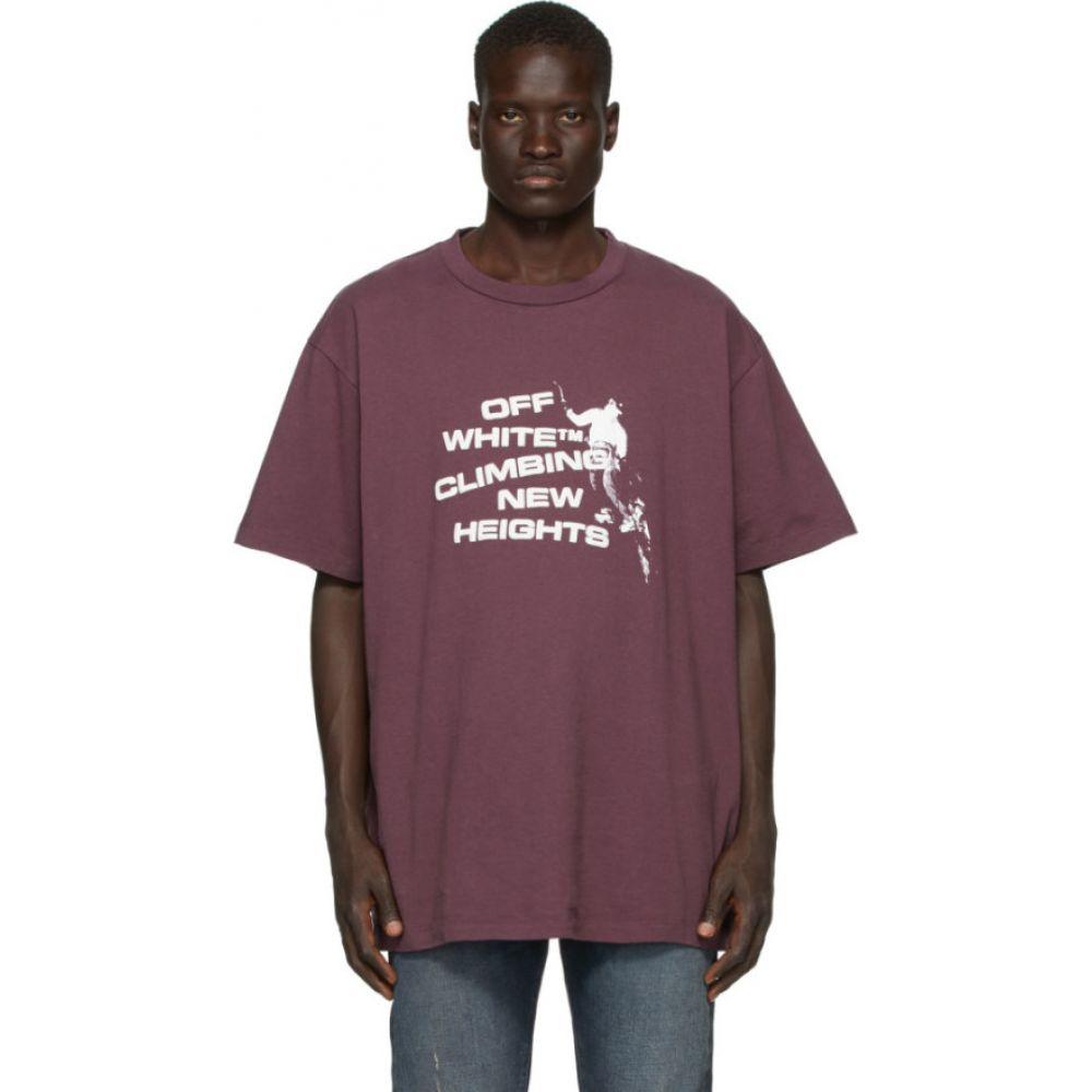 オフホワイト Off-White メンズ Tシャツ トップス【Purple 'Climbing New Heights' T-Shirt】Aubergine