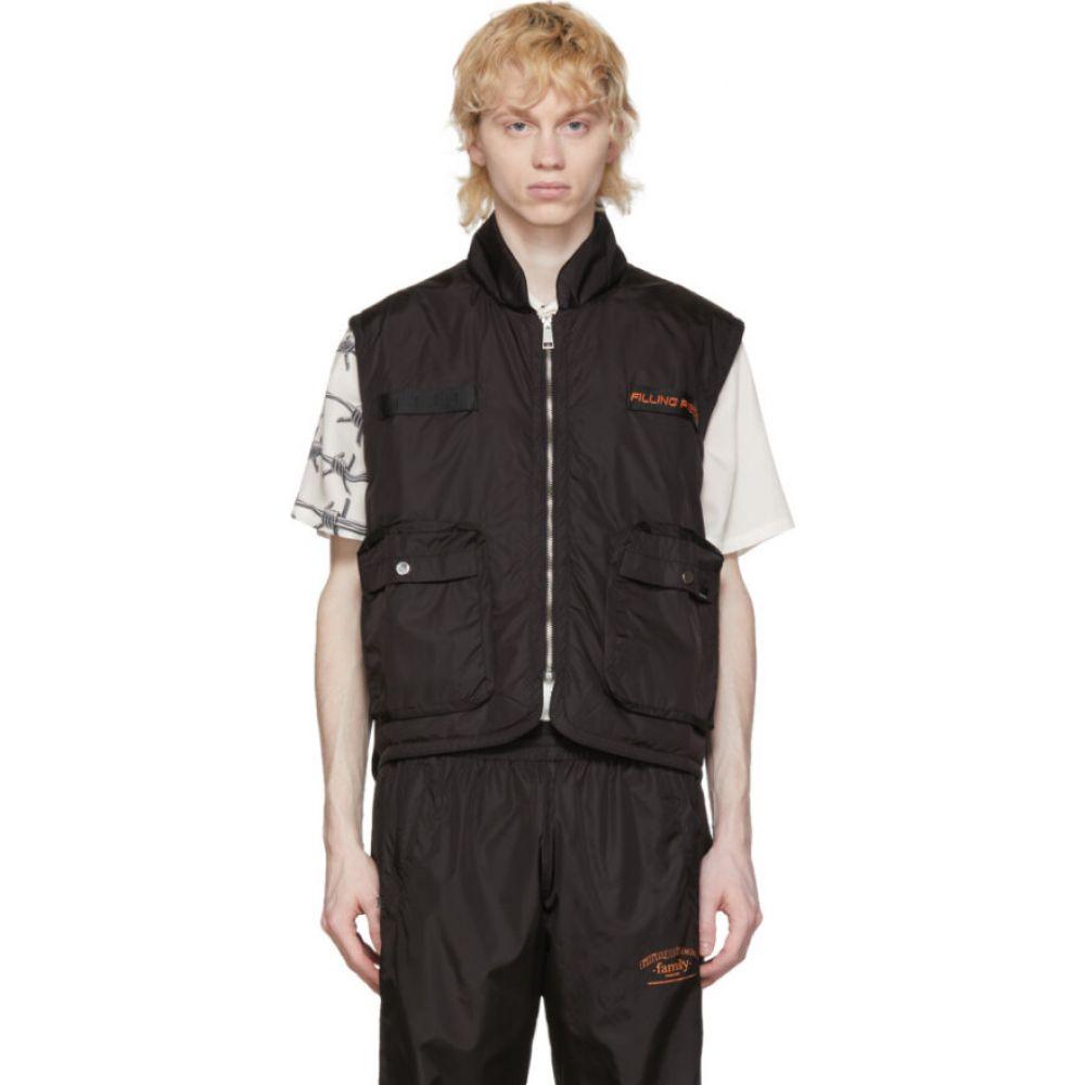 フィリング ピース Filling Pieces メンズ ベスト・ジレ トップス【Black Military Vest】Black