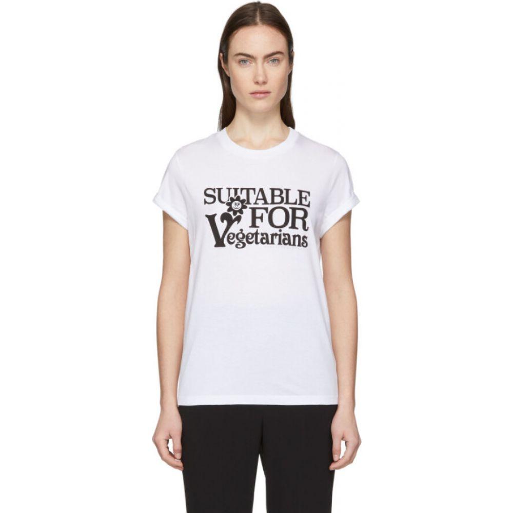 ステラ マッカートニー Stella McCartney レディース Tシャツ トップス【White 'Suitable For Vegetarians' T-Shirt】