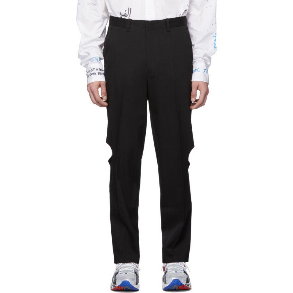 ヴェトモン VETEMENTS メンズ ボトムス・パンツ 【Black Knee Hole Trousers】Black
