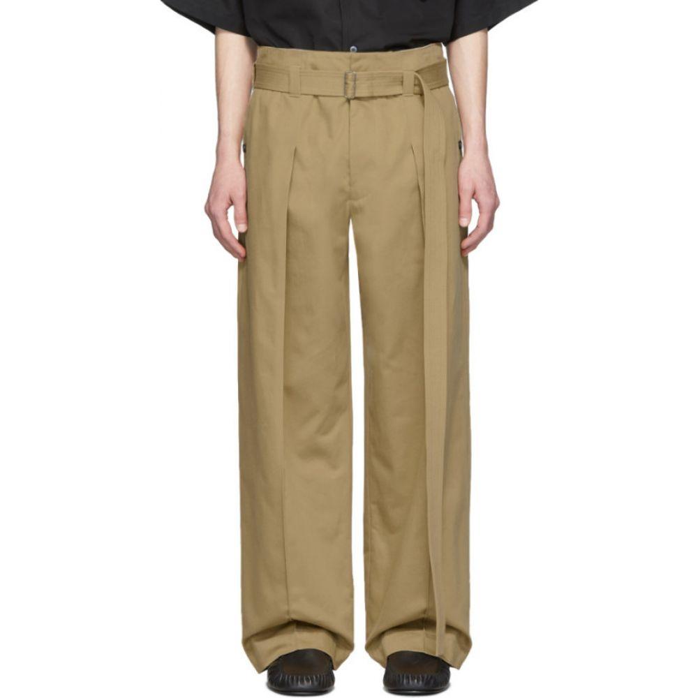 ロエベ Loewe メンズ ボトムス・パンツ 【Beige Belted Trousers】Beige