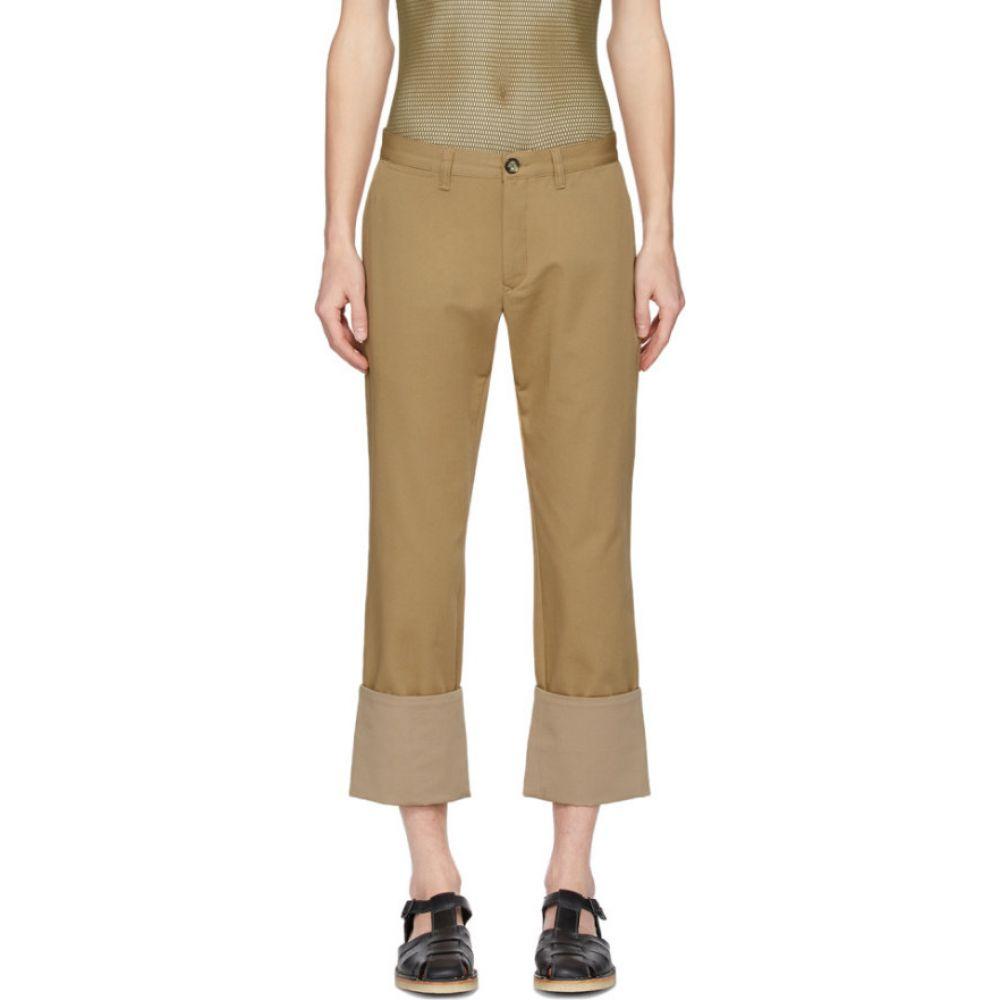 ロエベ Loewe メンズ チノパン ボトムス・パンツ【Beige Turn Up Chino Trousers】Camel
