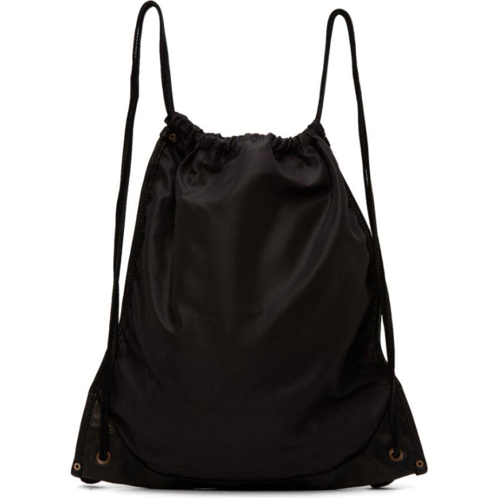 グイディ Guidi メンズ バックパック・リュック バッグ【Black Drawstring Backpack】Black