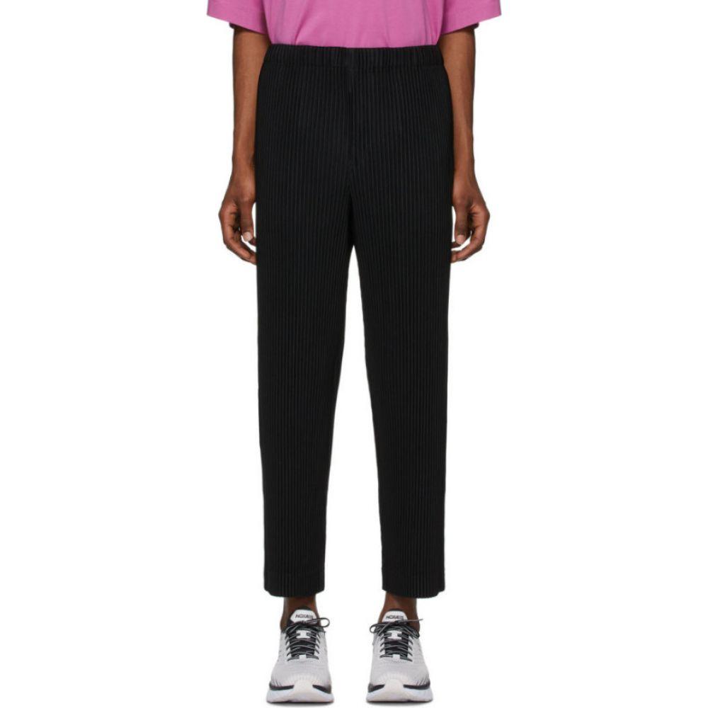 イッセイ ミヤケ Homme Plisse Issey Miyake メンズ ボトムス・パンツ 【Black Pleated Trousers】Black