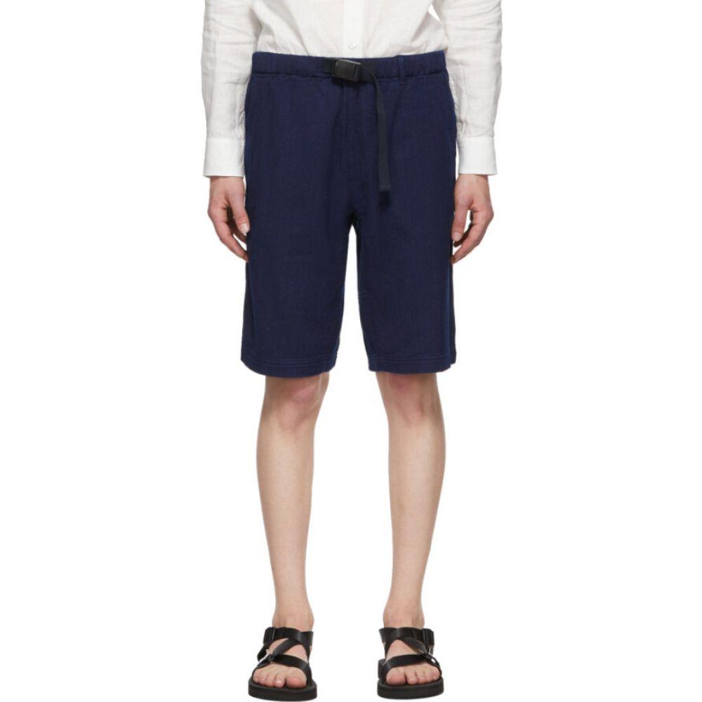 ブルーブルージャパン Blue Blue Japan メンズ ショートパンツ ボトムス・パンツ【Indigo Sashiko Mountain Shorts】Indigo