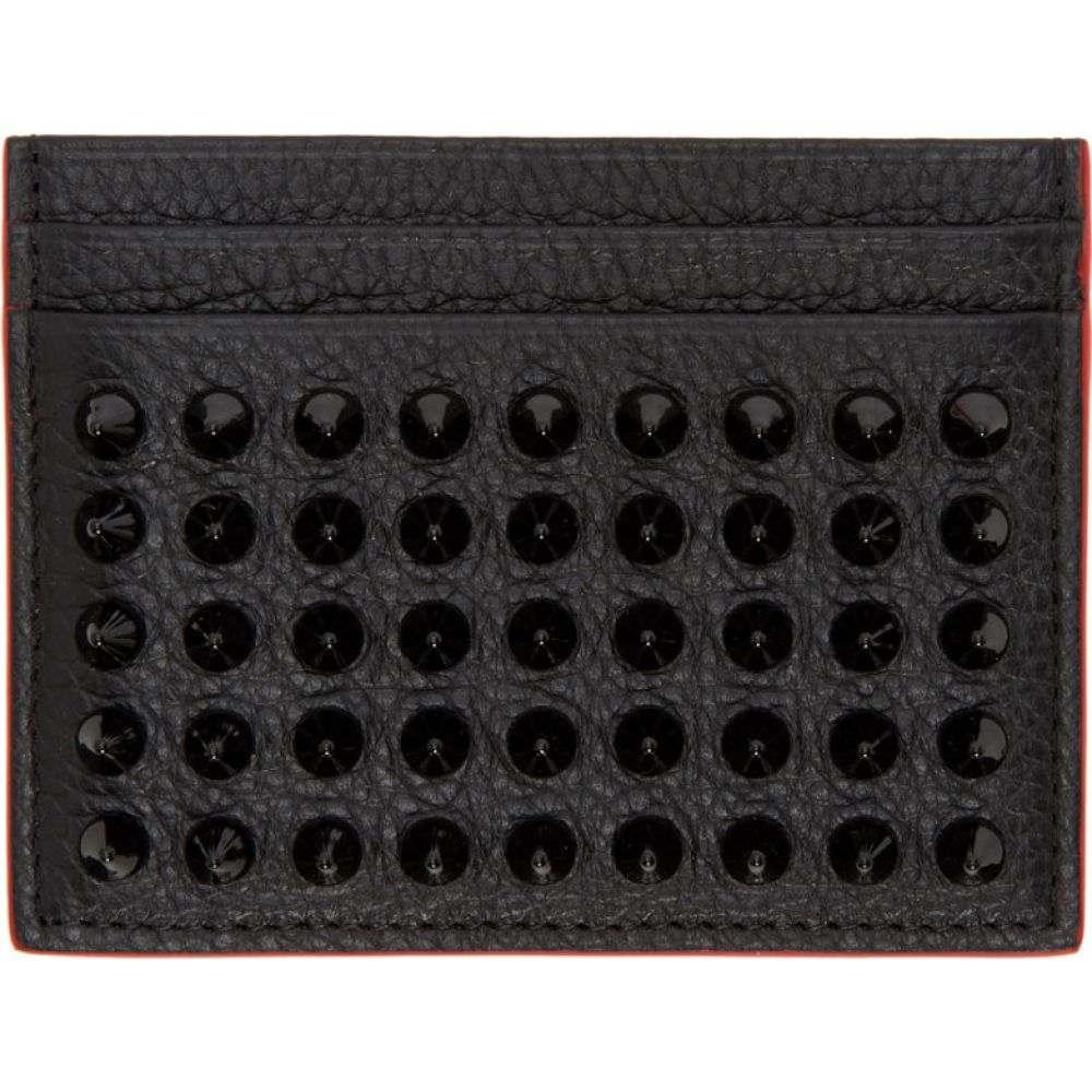 クリスチャン ルブタン Christian Louboutin メンズ カードケース・名刺入れ 【Black Kios Spikes Cardholder】Black/Black