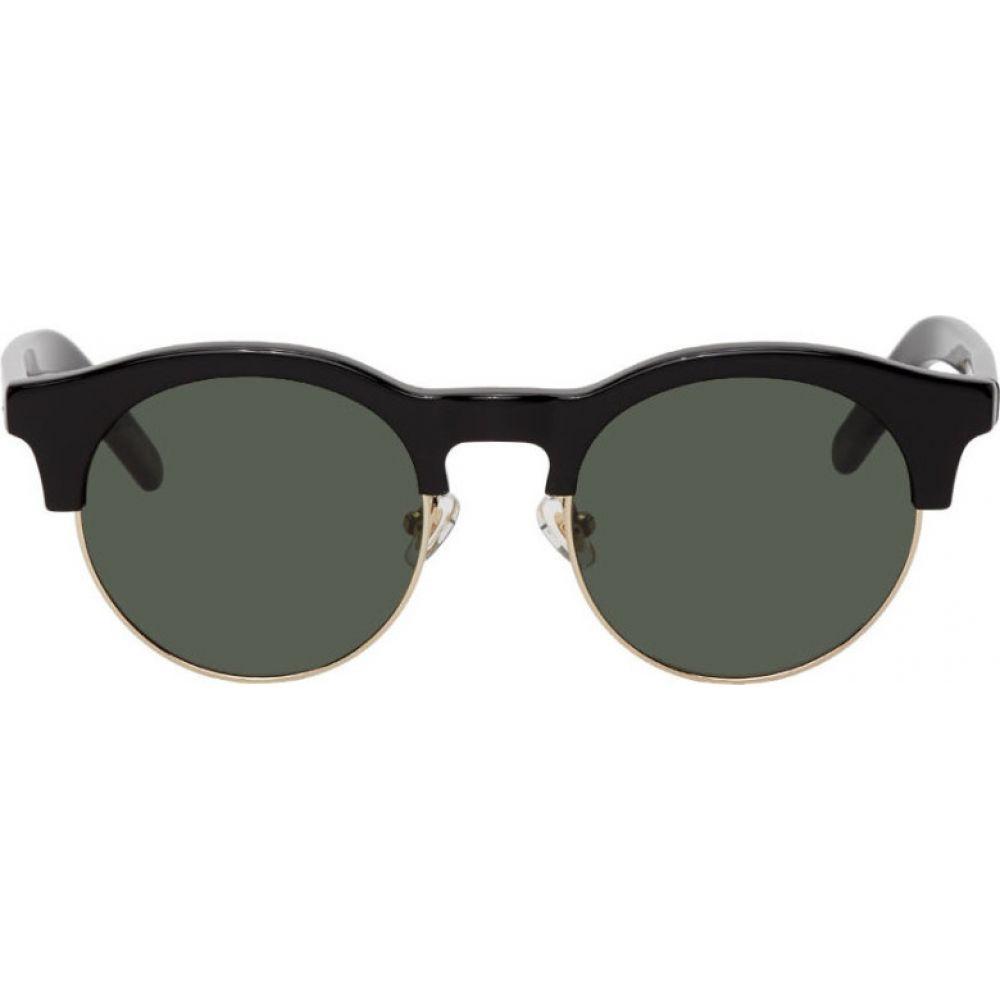 ハン コペンハーゲン Han Kjobenhavn メンズ メガネ・サングラス 【Black & Silver Smith Sunglasses】Black/Sun green