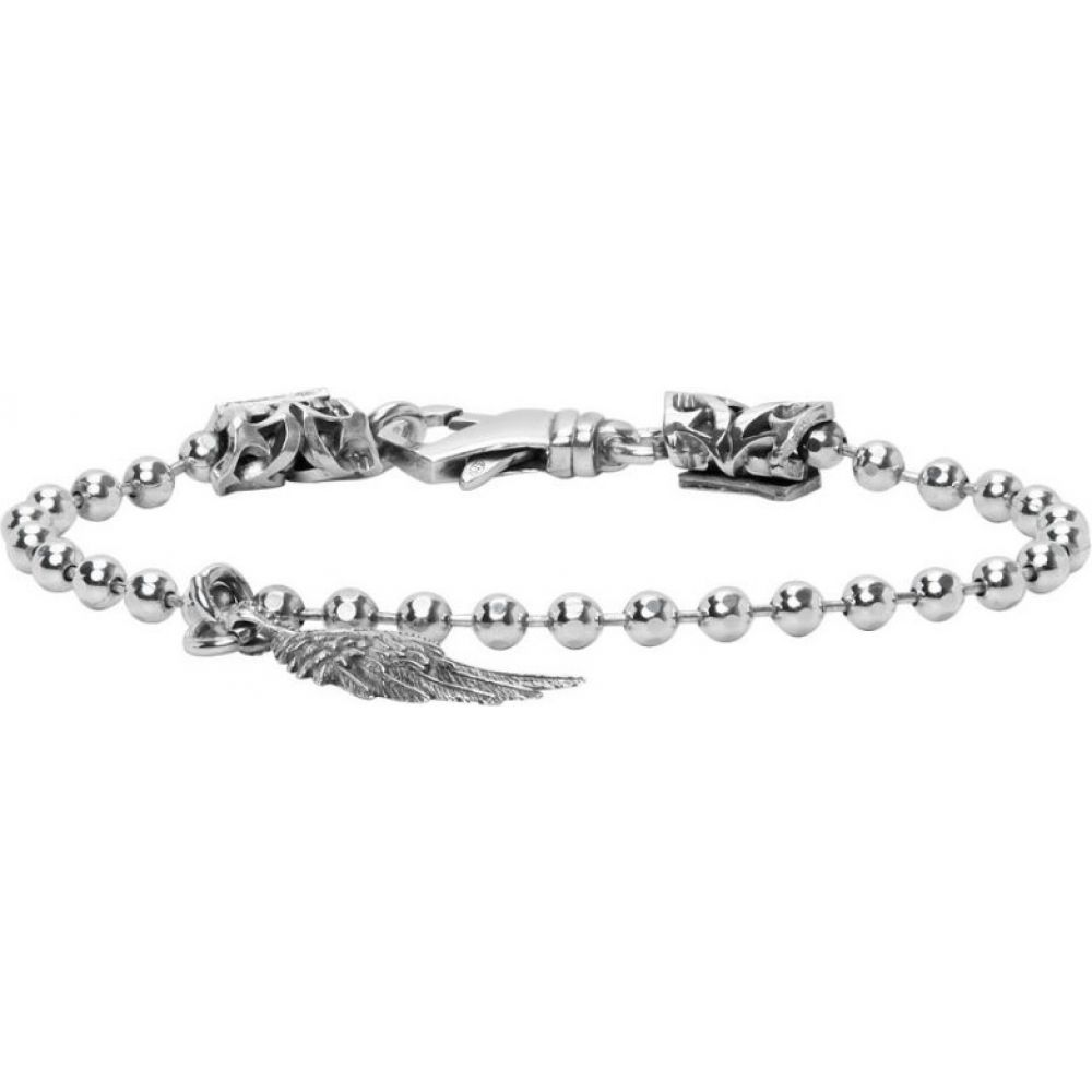 エマニュエレ ビコッキ Emanuele Bicocchi メンズ ブレスレット チャーム ジュエリー・アクセサリー【Silver Wing Charm Disco Chain Bracelet】Silver